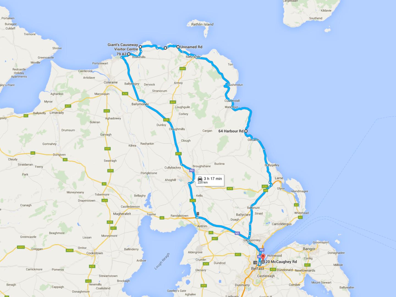 De Belfast a la Calzada del Gigante