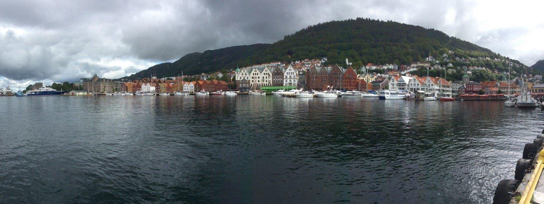 Panorámica de Vågen en Bergen