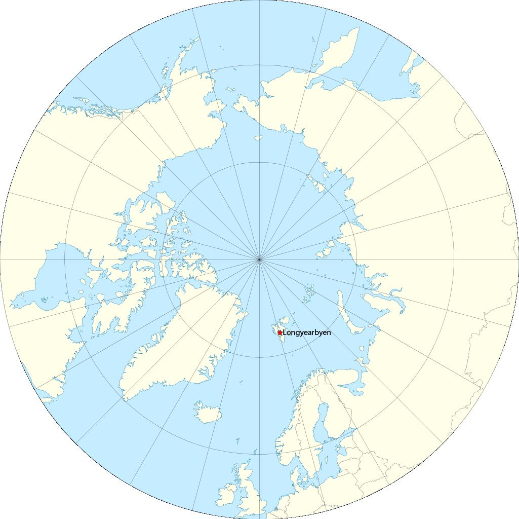 Localizacion Longyearbyen