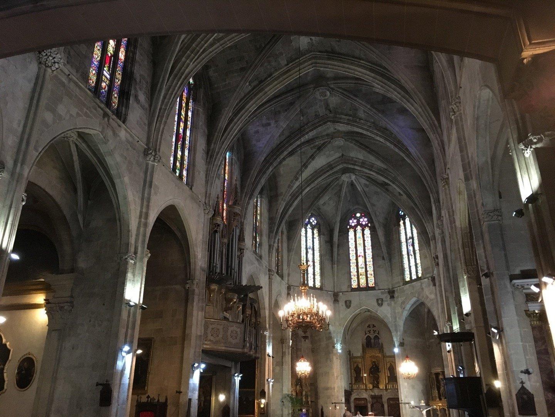 Interior de Sant Jaume, en Palma.