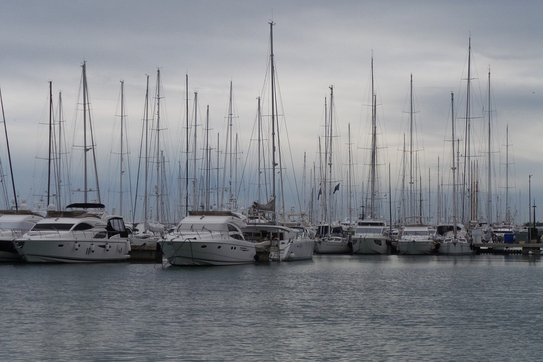 Yates en el puerto de Palma.